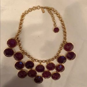 kate spade Jewelry - Kate Spade bib necklace in gold and purple